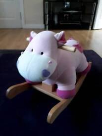 Pink toddler rocking horse (hippo)
