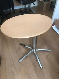 Small oval rotating table