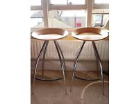 Gorgeous pair of Lyra Italian designer bar stools