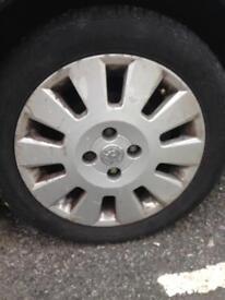 Vauxhall 4 stud alloy wheels