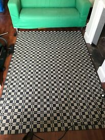Blue check pattern carpet £20