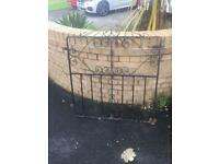 Wrought iron pedestrian gate / metal garden gate £15