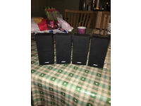 4 X BOSE BLACK DOUBLE CUBE ACOUSTIMASS 5 10 15 LIFESTYLE SPEAKERS