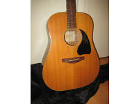 Lovely old 1970's Stella acoustic guitar with gig