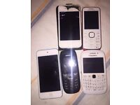 job lot 4x mobiles 1 ipod