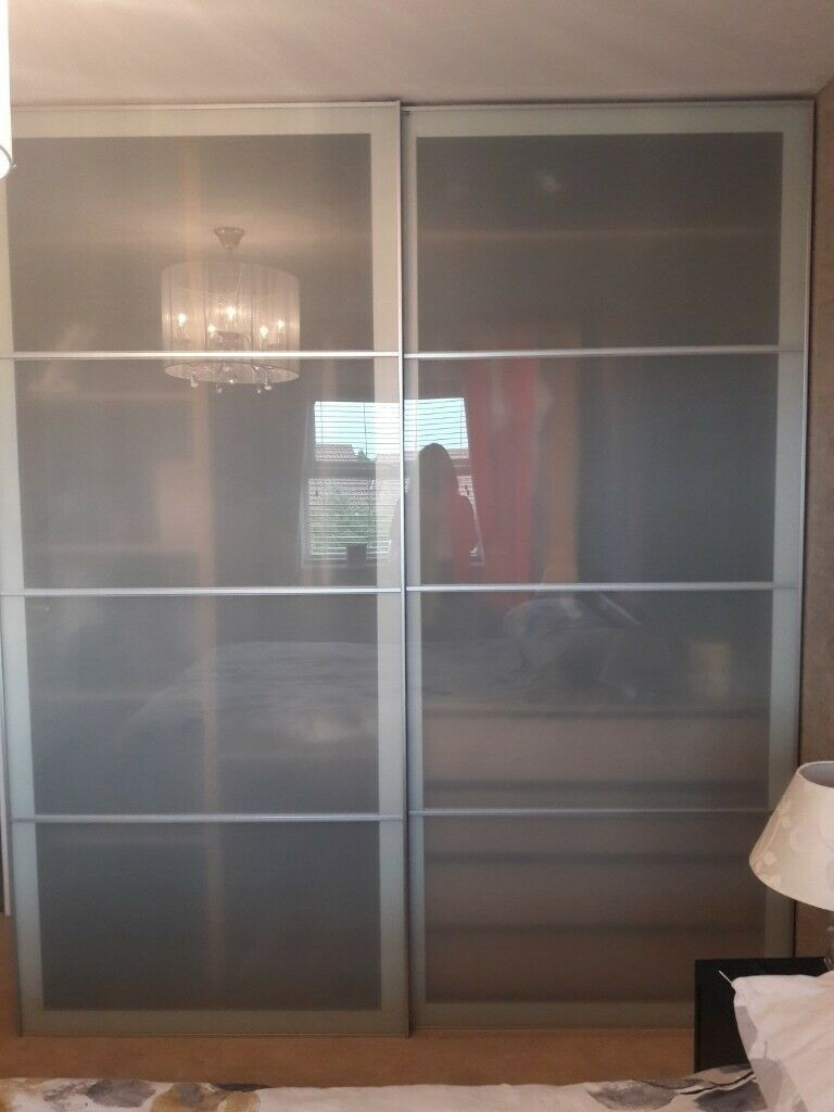 Ikea Pax aluminium framed wardrobe doors | in Killingworth, Tyne and Wear |  Gumtree