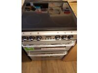 New World EC600DOm 60cm Electric Ceramic Double Oven Cooker in Silver