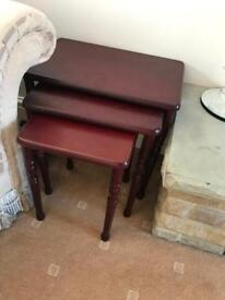 Nest of tables - Mahogany colour