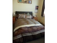 Brown Faux Leather Double Bed £35