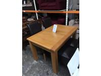 Oak table with 4 x chairs. New