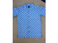 Boys Gap blue,white short sleeve shirt