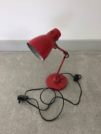 Red Angle poise lamp