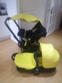 Xpedior Travel System Pram/Pushchair/Buggy/Stroller Mothercare