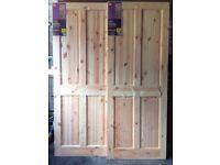 Two new 4 panel B&Q pine doors