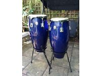 'Natal Spirit' congos with stands x 2, navy blue