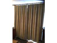 Fully lined stripe velvet curtains