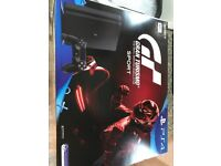 PS4 brand new unopened 500gb with gran turismo pack