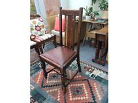 Oak High Back Dining Chairs - set of 4