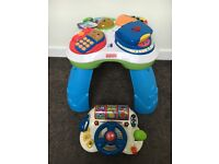 Fisher price learning table & V tech driving toy
