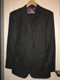 """Men's Marks & Spencer's Suit Grey Pin Stripes Size 40"""" Chest"""