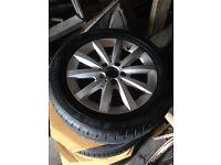 "Mercedes a class alloys, 16"" , good continental tyres approx 7 mm tread.no centre caps"