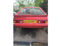 Opel manta gte A 1983 classic project starts up needs fuel pump all docs keys getting rare