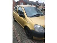 Toyota Yaris 1.0 2002 Gold cheap insurance runs and drives or for parts