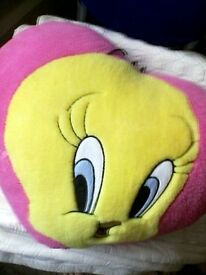 Tweety pie cushion new