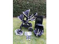 Icandy Peach 3 2017 Leather Model Latest icandy Double buggy pram Brand new seat Car seat
