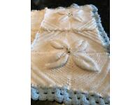 Rare 3D blanket 80s style immaculate hand knotted
