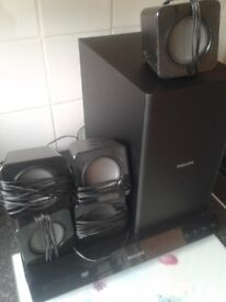 Sound system for sale 70 pound comes with aux lead also is a dvd player works 100%