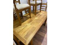 Solid Antique Table and 6 Chairs