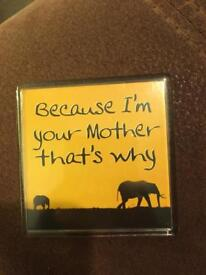 Because I'm your mother that's why magnet