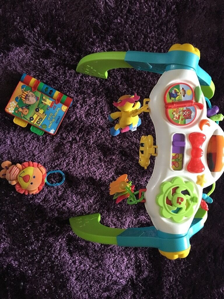 Baby toy bundlein Portlethen, AberdeenGumtree - Baby toy book with music, baby arch with music, pram toy ; all for 7£ , good condition . Please contact Alex if interested 07871996863
