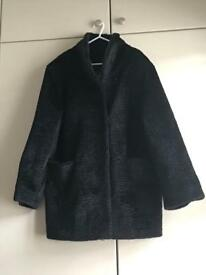 Black textured ladies jacket