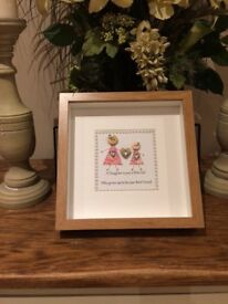 Handcrafted mother/daughter shadow box frame gift 🎁
