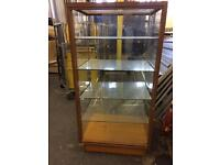 Display cabinet wood glass ideal for shop / storage self