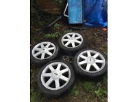 """Ford 16"""" alloy wheels with tyres and spacers"""
