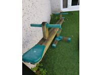 Kids wooden see-saw