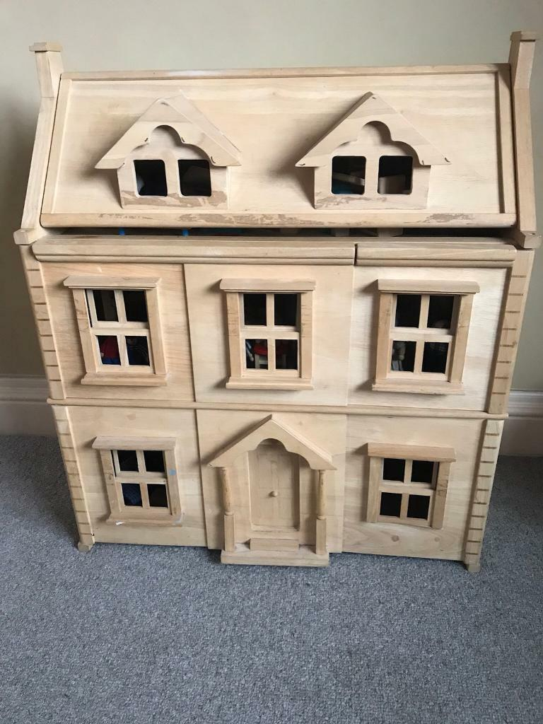 Plan toys victorian dolls house furniture dolls