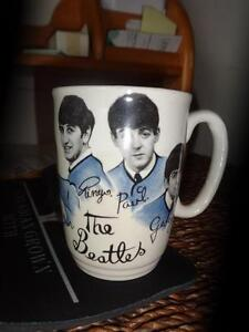 VERY RARE BEATLES COFFEE MUG FROM EARLY 60S / Handle reglued but still valuable due to rarity / OAKVILLE 905 510-8720