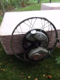 OLD CYCLEMASTER ENGINE BIKE MOPED VINTAGE BARN FIND AND BOOKS BEDFORD LOCATION