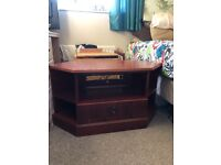Rosewood TV cabinet with draw