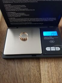 Double row keepers ring. Don't know the size but fits me I think I am s