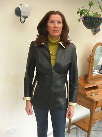 Ladies lambs leather coat