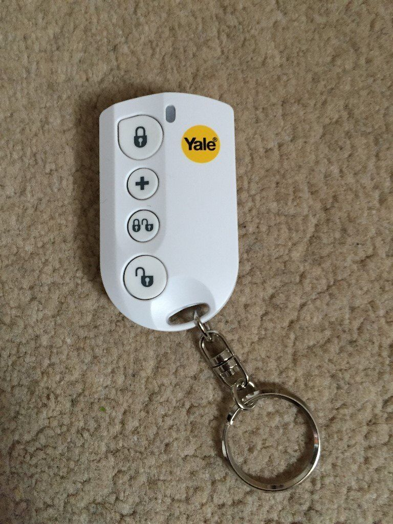 Yale alarm key thob remote for the HSA 6000 series alarm systems.