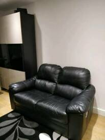 2 Seater Leather Sofa - Recliner