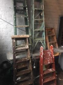 Vintage wooden step ladders from £15 shabby chic/ wedding decor / home or retail display