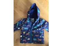 Joules navy farmyard jacket 12-18m