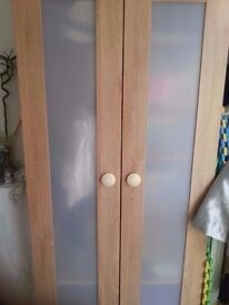 Light Brown Wood Wardrobes to sale at discount price